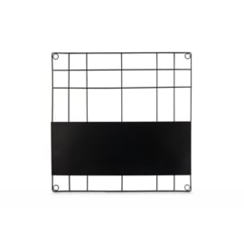 Memo Board Magnetic Wire Noir