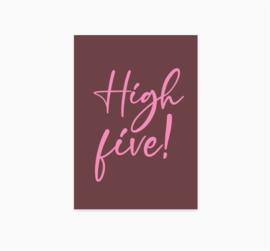 A6 Ansichtkaart || High Five
