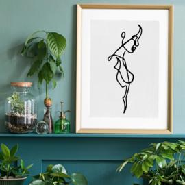 Female Side Study Line Art Print