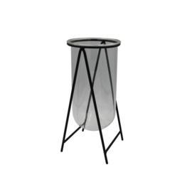 Vase | Métal / Verre | Noir