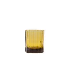 Brût | Homeware Whiskey Glas 25 CL Amber, set van 4