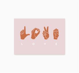 A6 Ansichtkaart || LOVE