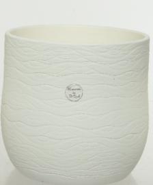 Kaeminck | Bloempot | Terracotta | Wit | Large