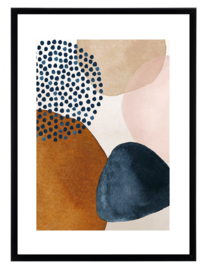 Esque   Poster   Abstract   Watercolor   Donkerblauw   Backorder