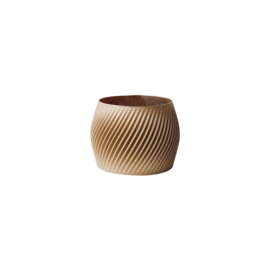 Flowerpot Billon M | Recycled wood | Beige