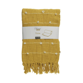 Tagesdecke | Baumwolle | Gelb