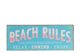 Muurplaat | Beach Rules