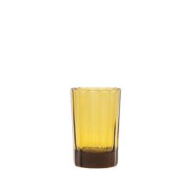 Brût |Homeware Reed Water Glas 20 CL Amber, set van 6
