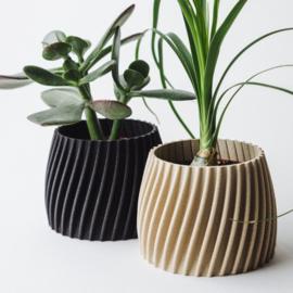 Blumentopf Trovex S | Recyceltes Holz | Beige | Ø6cm