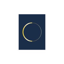 Poster cirkel | Blauw
