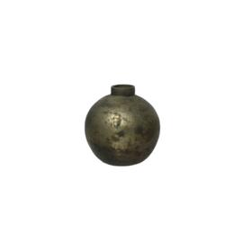 Vase   Glas   Grau   8cm