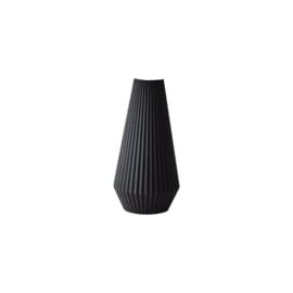 Vase Lila | Recycled wood | Black