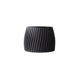 Flowerpot Trovex L | Recycled wood | Black