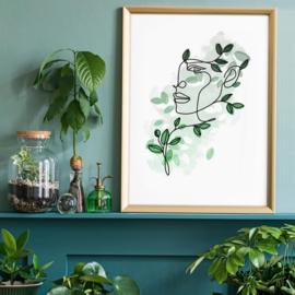 Bladeren Haar Print | 40x50