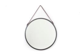 Mirror | Hanging | Round | Black | 50 cm