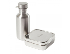 Stainless steel bottle and lunchbox set