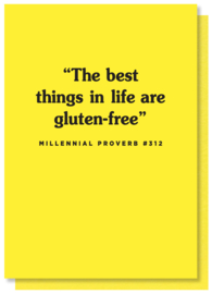 The Best Things In Life Are Gluten-Free Kaart |BACKORDER