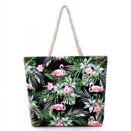 Strandtas Flamingo | Groen