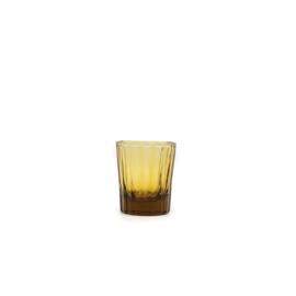 Brût | Homeware Reed Espresso Glas 7 CL Amber, set van 6