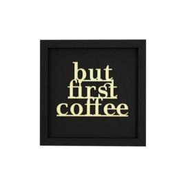 Werkpunk But First Coffee | Zwart | M