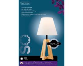 Tafellamp | Solar | Buiten | Hout
