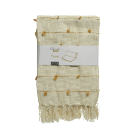 Tagesdecke | Baumwolle | Beige