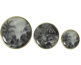 Kaemingk | Decoratieve borden | Set van 3 | Glas | Multicolor