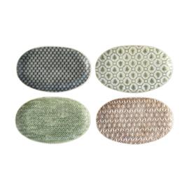 Tellerbratsche | Keramik | Sortiment von 4