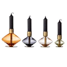 Candle holder 4 piece set | Metal | Multicolor