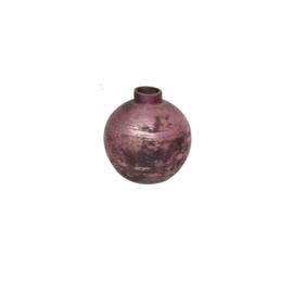 Vase   Glas   Pink   8cm