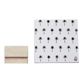 Housevitamin | Decoratieve tegel Palmbomen | Keramiek | Wit