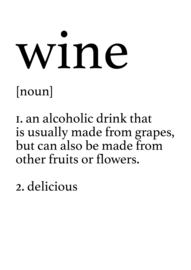 Woordenboek definitie Print | Wijn | A4
