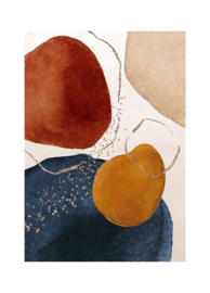 Esque   Poster   Abstract   Watercolor   Bourdeaux   Backorder