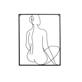 Schilderij | Metaal | Zwart | 50cm