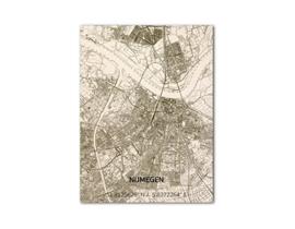 Carte unique détaillée de la ville de Nimègue.