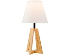 Lampe de table | Solaire | À l'extérieur | Bois