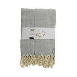Tagesdecke | Baumwolle | Grau | Rückstand