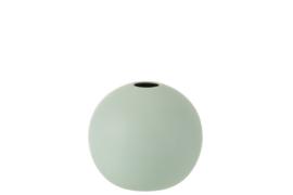 J-Line Vaas Bol Keramiek Mat Pastel Groen Medium | Backorder