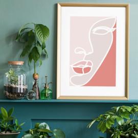Face Study Block Colours Print 30x40 cm