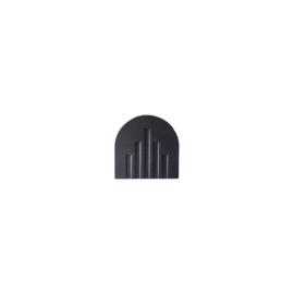 Vasenabdeckung Up | Recyceltes Holz | Schwarz | 6cm