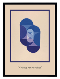 Esque   Poster   Abstract   Nothing but blue skies    Backorder