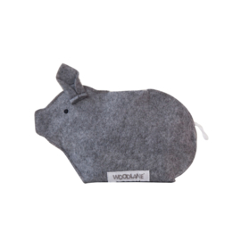 Recycled money box - Piggy bank Gray