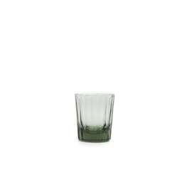 Brût | Homeware Reed Espresso Glas 7 CL Smokey Green, set van 6