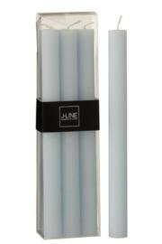 J-Line |  Kaarsen | Set van 6 | Licht blauw