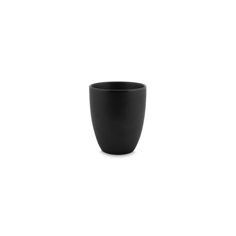 Vtwonen | Mok zonder oor | Porselein | Mat zwart | 250 ml