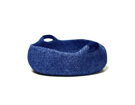 Felt basket - Blue