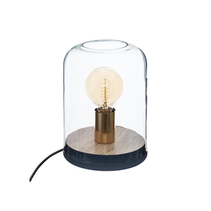Kuppellampe Holz