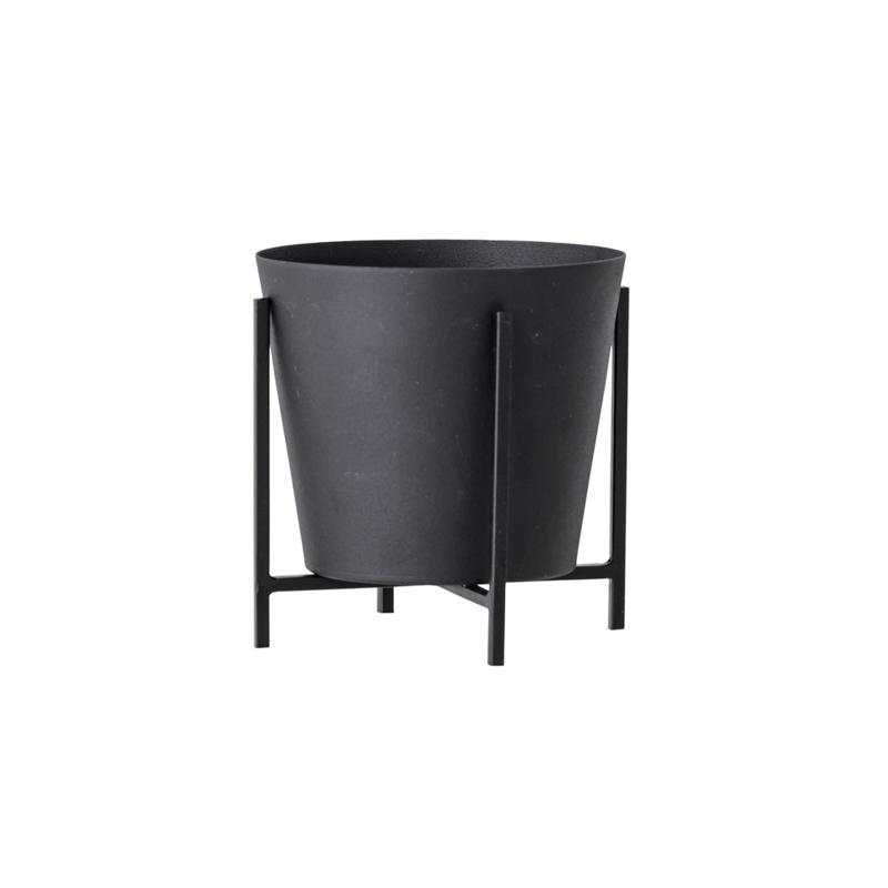 Pot de fleurs S | Métal | Noir | 11 cm