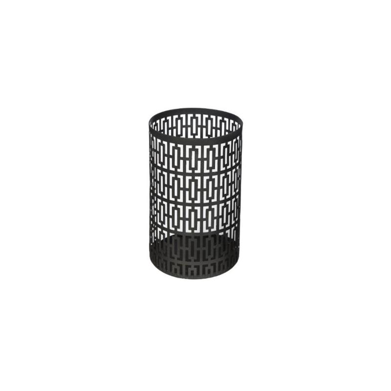 Waxinelichthouder | Metaal | Zwart | 15cm