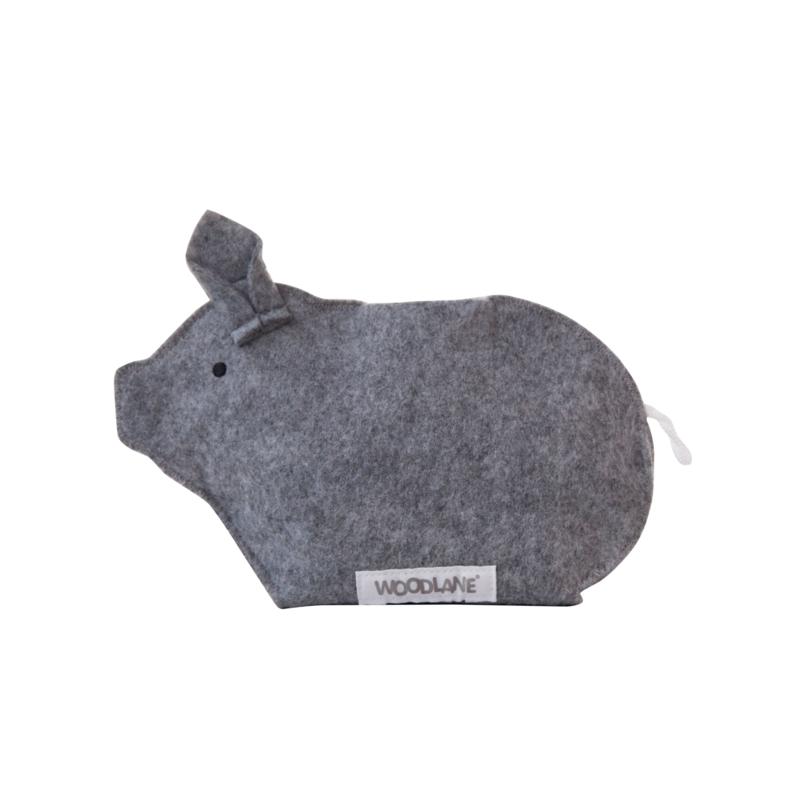 Sparschwein | Recycelter Kunststoff | Grau